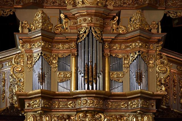 Celle, Niedersachsen, Stadtkirche St. Marien, organ, detail