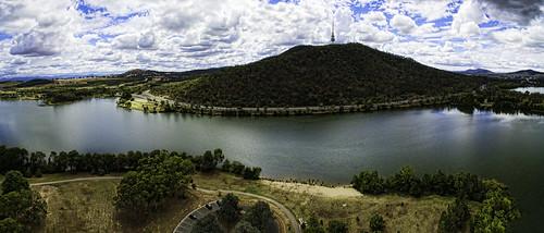 panorama aerial drone canberra blackmountain australia djiphantom3