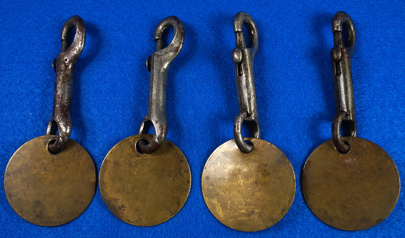 RD27754 Vintage Brass Military Tag on Snap Hook DSC00051