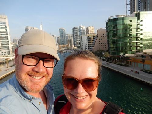 Dubai Marina in middagzon