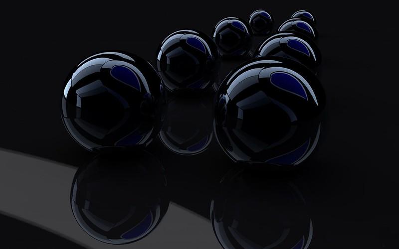 Обои рендеринг, рендер, черный, отражение картинки на рабочий стол, фото скачать бесплатно