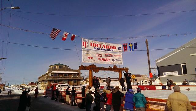 Nome Alaska, Iditarod finish line