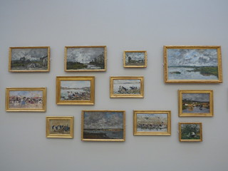 The famous collection of paintings of Eugène Boudin (1824-1898), Landscapes and Washerwomen, in the MuMa Museum André Malraux, Le Havre