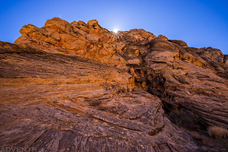 Sandstone Crack & Sunburst