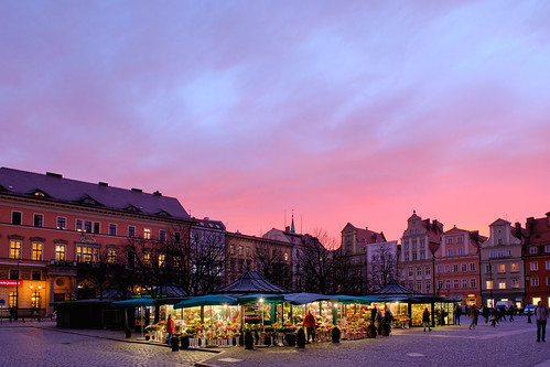 wroclaw city market square sunset evening europe poland fuji fujifilm fujifilmx