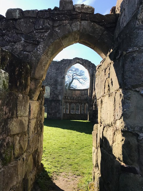 Haughmond Abbey - an arch with a view