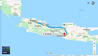 Map Jakarta to Yogya | by Traveling Morion