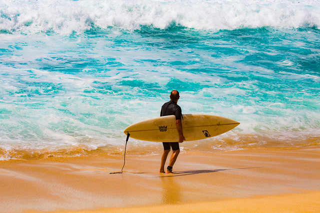 A Surfer In Hawaii