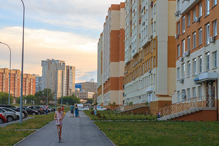 Residental district in Kemerovo city