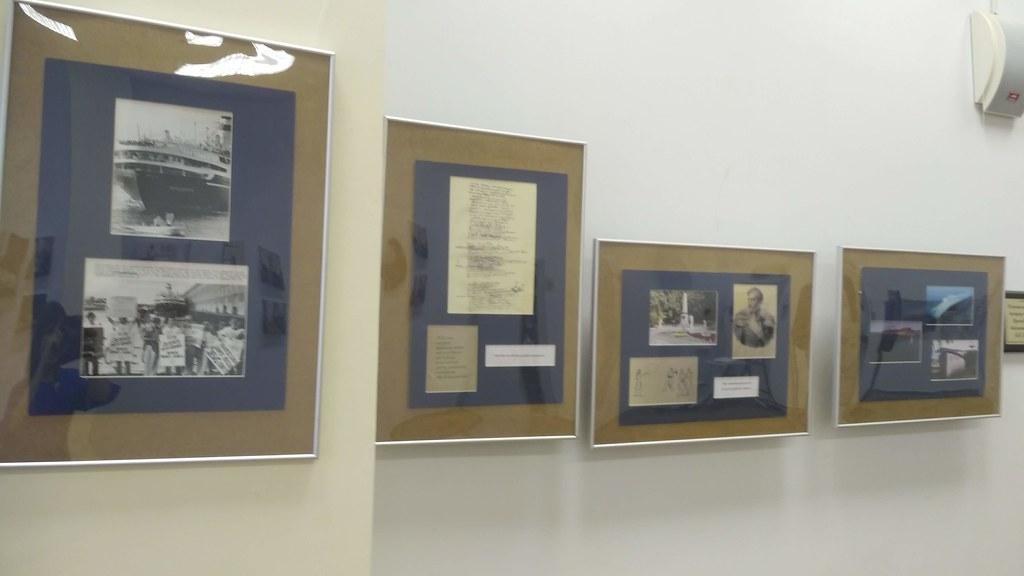 Открытие трех выставок в рамках проекта «Время Лермонтова», посвященного 205-летию со дня рождения поэта в выставочном зале Дворца книги г. Ульяновска.