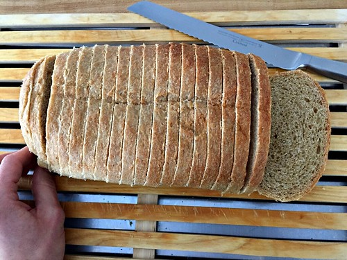 slices of homemade whole grain bread