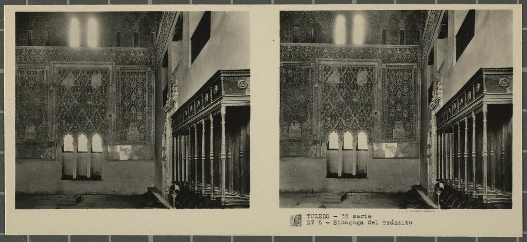 Sinagoga del Tránsito. Colección de fotografía estereoscópica Rellev © Ajuntament de Girona / Col·lecció Museu del Cinema - Tomàs Mallol