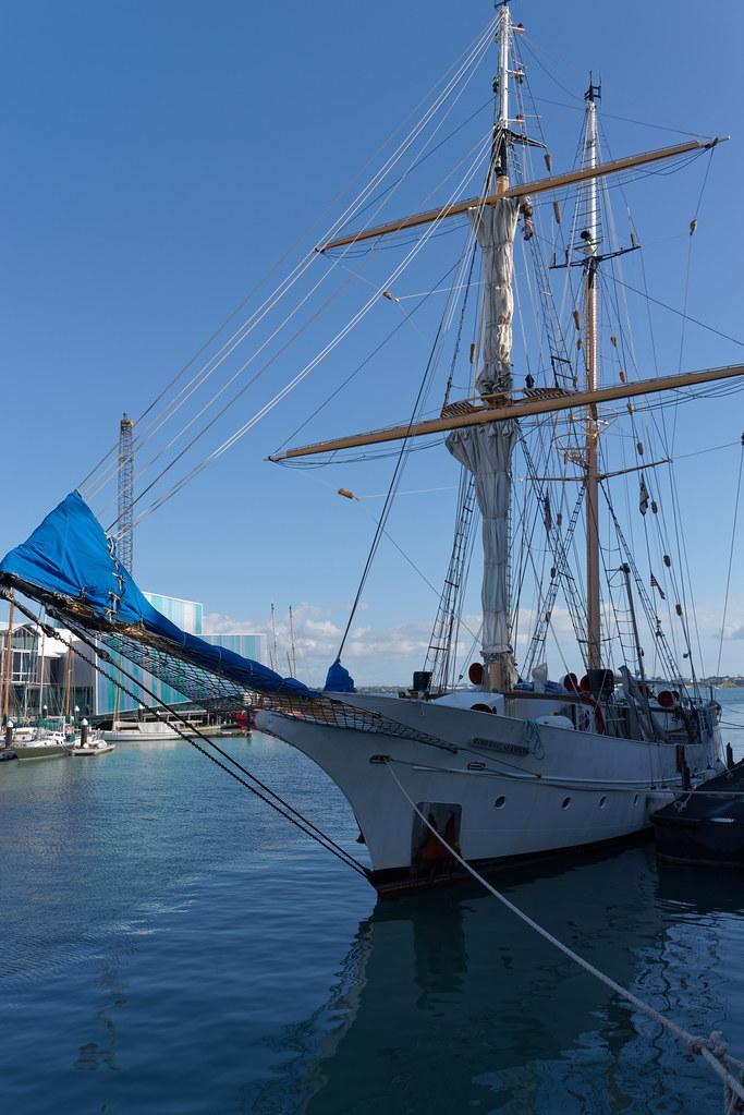 SSV Robert C. Seamans in Auckland harbour