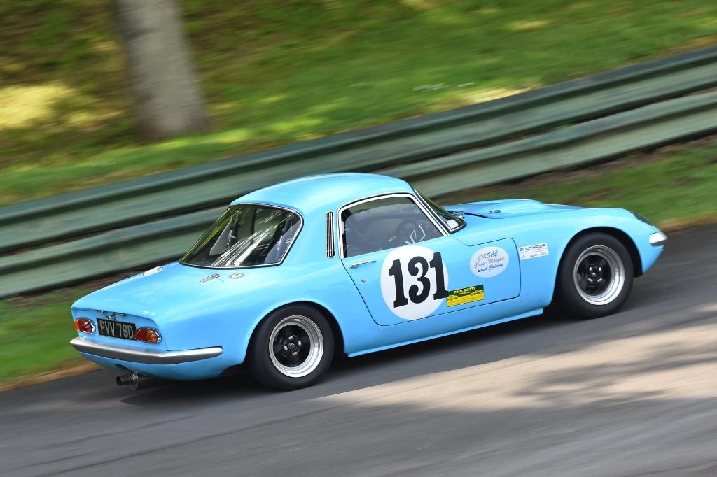 Geoff Stallard's Lotus Elan S3 at Prescott (D Garnett)