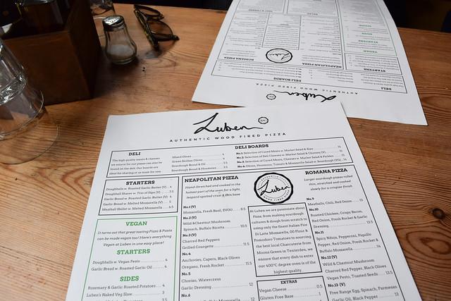 Menu at Luben's Pizza, Folkestone