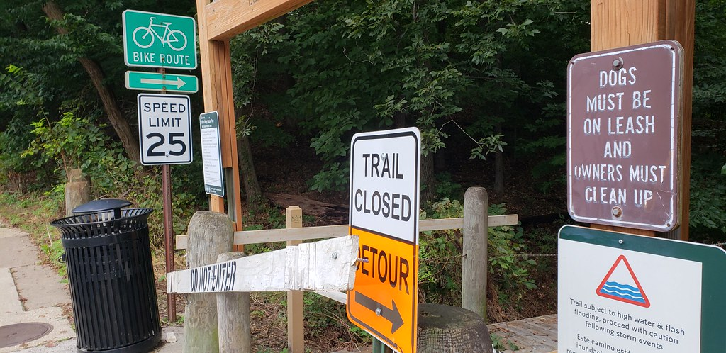 Holmes Run Trail closed west of Beauregard Street