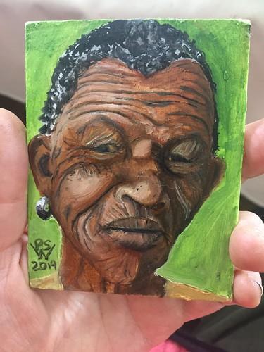 Elder African Face  -- mini study | by FeebeeSparrow