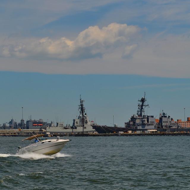 Shipspotting along the Elizabeth River in Virginia