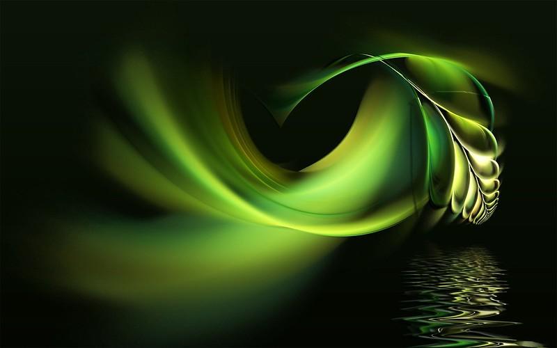 Обои чёрный, фон, абстракция, перо, вода, зеленый картинки на рабочий стол, фото скачать бесплатно