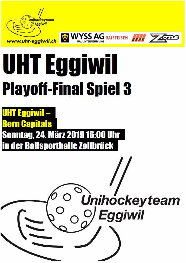 Herren l - Bern Capitals, Saison 2018/19, Playoff-Final, Spiel 3