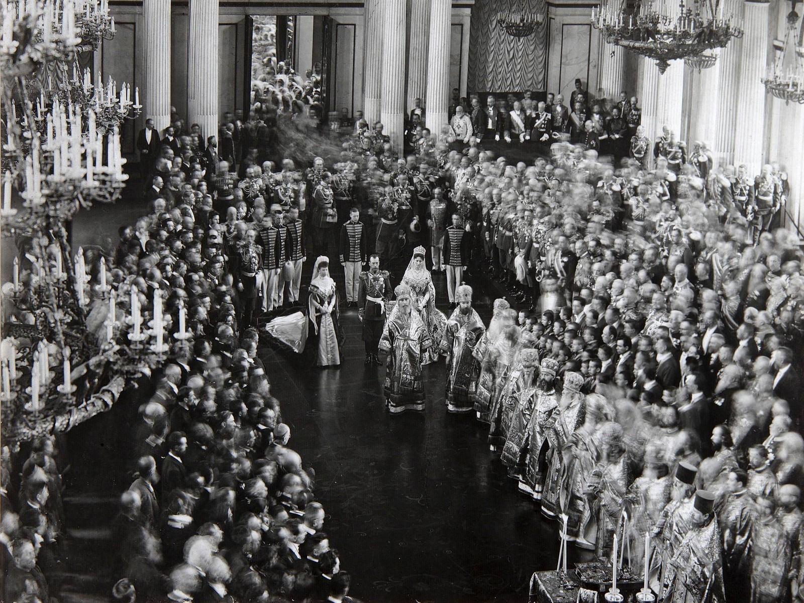 1906. Царь Николай II на церемонии открытия первой Думы, Санкт-Петербург
