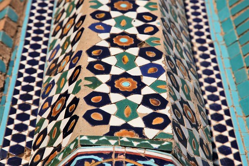 The intricate tile detail that gives Mazar-e Sharif's Blue Mosque.   by UN Assistance Mission in Afghanistan
