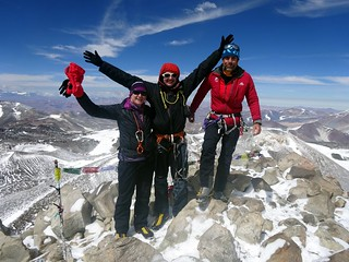 Edita, me and Chris celebrate on the summit | by markhorrell