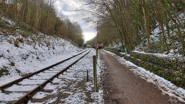 Snowy Railway Path