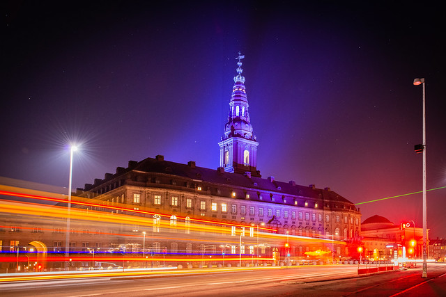 Christiansborg on a Starry Night