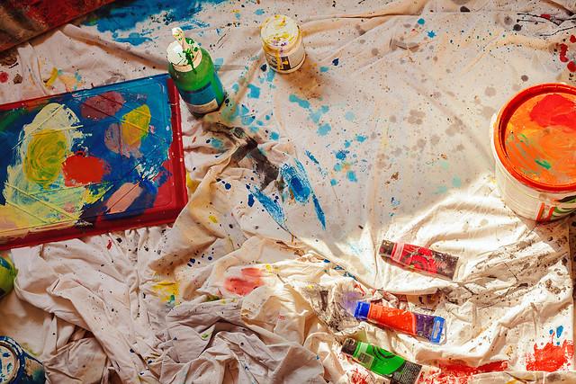 Painter's colors pallet