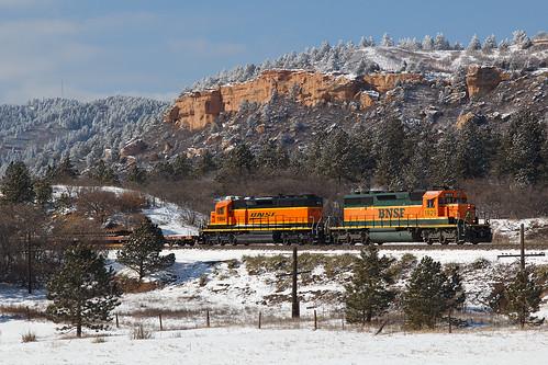 bnsf bnsf1929 bnsf1984 emd sd402 palmerlake colorado palmerdivide pikespeaklocal train railroad