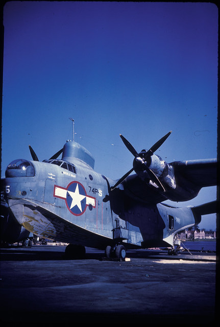 PBM-5 Mariner US Navy Tanapag Harbor Saipan Mariana Islands March 1945 JEC 10188
