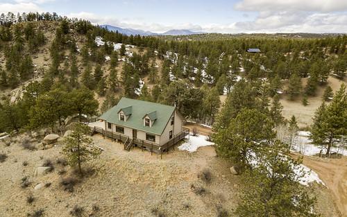 drone aerial colorado forest trees home house mavicpro sanden unitedstates