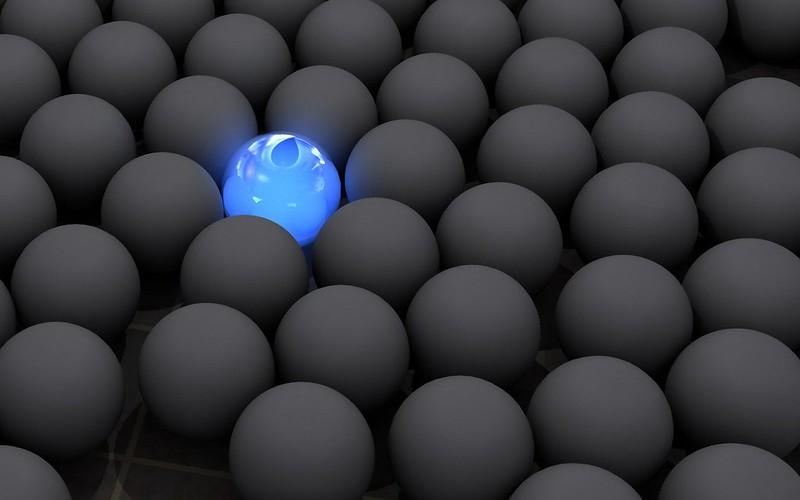 Обои шары, темный, неон, свет, поверхность картинки на рабочий стол, фото скачать бесплатно
