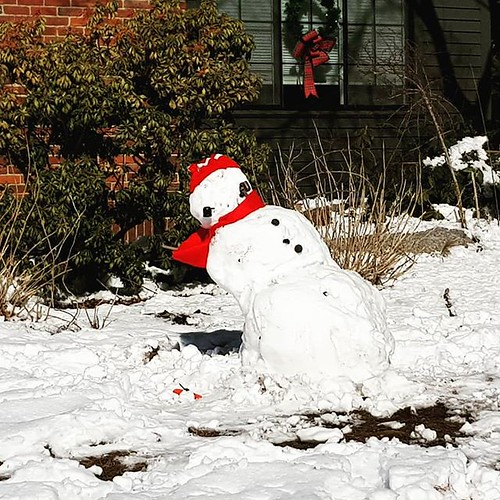 Listing snowman.   by Lorianne DiSabato
