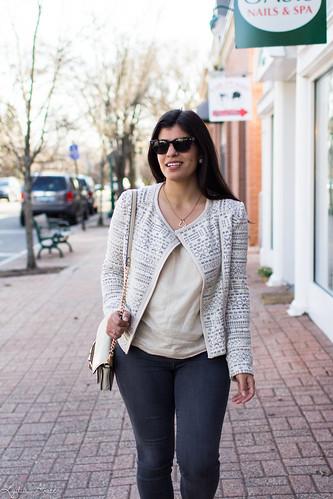 printed jacket, cream blouse, grey jeans, studded bag-14.jpg | by LyddieGal