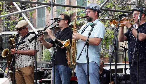 New Orleans Nightcrawlers at French Quarter Fest - 4.12.19. Photo by Bill Sasser.