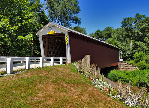 thomasford covered bridge old historical transportation indiana county outside scenic scenery landscapes