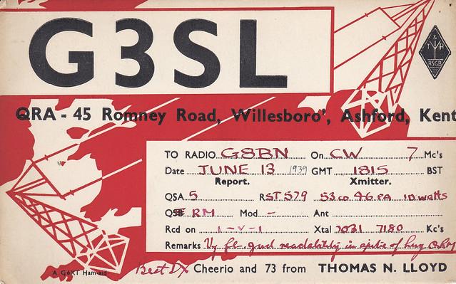 ASH9-089 Radio ham's postcard 1939