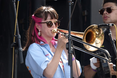 Haruka Kikuchi with Cha Wa on Day 1 of French Quarter Fest - 4.11.19. Photo by Keith Hill.