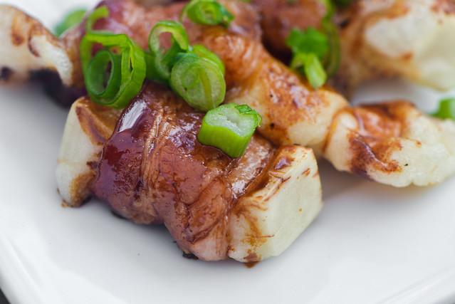 Bacon-wrapped Mochi