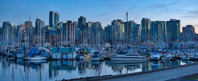 Vancouver Skyline behind the Marina