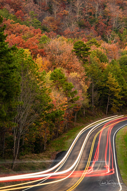 Light Trails on the Foothills Parkway