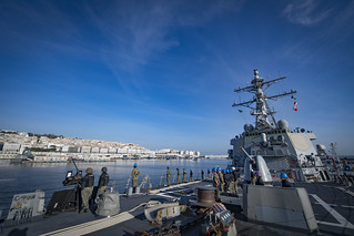 USS Donald Cook (DDG 75) arrives in Algiers.