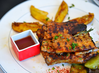 Greek pork grilled at local restaurant | by phuong.sg@gmail.com