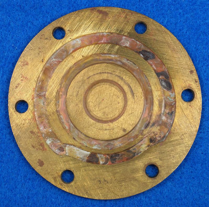 RD26708 Brass 3 inch ITT Jabsco 18400-0050 Pump End Cover Plate DSC00076