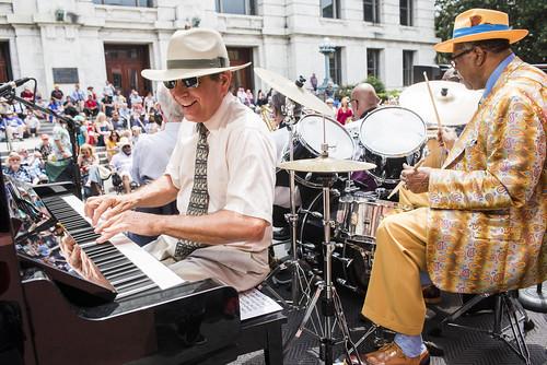 Sullivan Dabney's Muzik Jazz Band play French Quarter Fest day 3 on April 13, 2019. Photo by Ryan Hodgson-Rigsbee RHRphoto.com