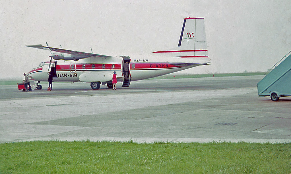 DAN-AIR Nord 262 turboprop airliner