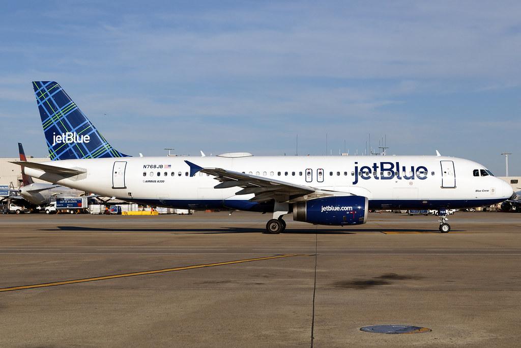 N768JB - Airbus A320-232 - jetBlue - KATL - Mar 2019