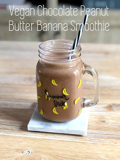 Vegan Chocolate Peanut Butter Banana Smoothie | by DolceDanielle